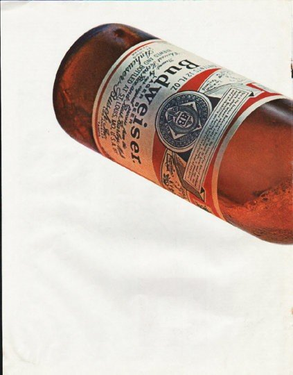 "1965 Budweiser Beer Ad ""Every drop"""