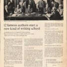 "1963 Famous Writers School Ad ""12 famous authors"""