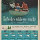"1960 Newport Cigarettes Ad ""Hint of Mint"""