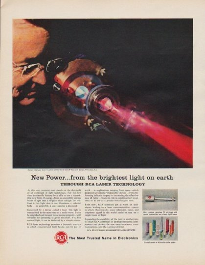 "1963 RCA Electronics Ad ""New Power"""
