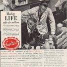 """1937 Sealtest System Ad """"Safer For Millions"""""""