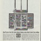"""1961 Admiral Refrigerator Ad """"back from college"""""""
