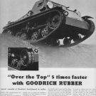 """1937 Goodrich Rubber Ad """"Over The Top"""""""