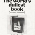 """1964 Yellow Pages Ad """"world's dullest book"""""""