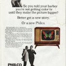 "1965 Philco Television Ad ""told your barber"""