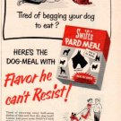 "1953 Swift's Dog Food Ad ""Pard Meal"""