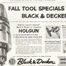 "1956 Black & Decker Ad ""Fall Tool Specials"""