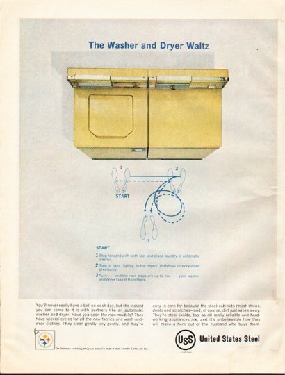 """1961 United States Steel Ad """"Washer and Dryer Waltz"""""""
