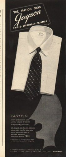 "1948 Jayson Shirts Ad ""The Nation Says"""