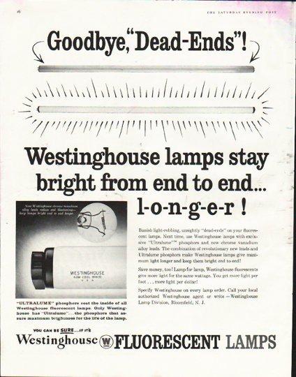"1958 Westinghouse Ad ""Dead Ends"""