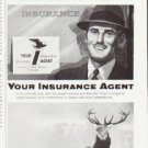 "1957 The Hartford Insurance Ad ""Your Insurance Agent"""