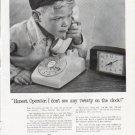 "1963 Bell Telephone System Ad ""Honest, Operator"""