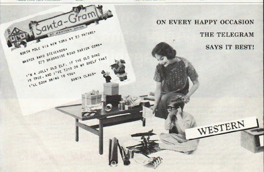 """1958 Western Union Ad """"Every Happy Occasion"""""""