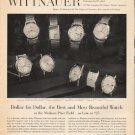 "1963 Longines-Wittnauer Watch Ad ""Dollar for Dollar"""