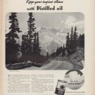 """1938 Havoline Motor Oil Ad """"The Mountains"""""""
