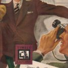 """1937 Timely Clothes Ad """"Young Man, Relax"""""""