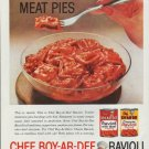 "1960 Chef Boy-Ar-Dee Ravioli Ad ""Bite-Size Meat Pies"""