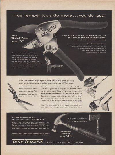 """1960 True Temper Tools Ad """"Do More"""""""