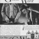 """1937 G & W Whiskey Ad """"Guess Work"""""""