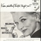 "1958 Tareyton Cigarettes Ad ""Know something"""