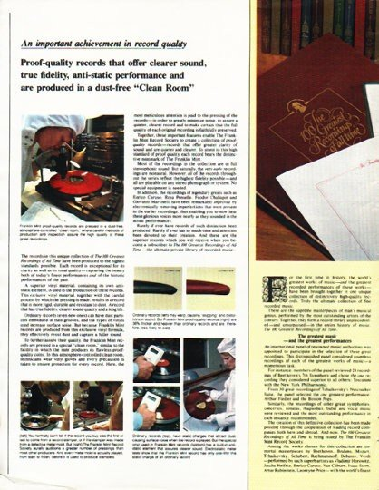 """1980 The Franklin Mint Record Society Ad """"Greatest Recordings"""""""