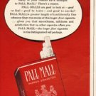 "1948 Pall Mall Cigarettes Ad ""Outstanding"""