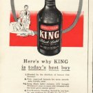 "1948 Brown-Forman Whisky Ad ""King"""