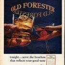 "1965 Old Forester Whisky Ad ""tonight"""
