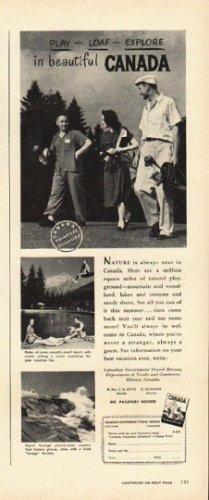 """1948 Canada Tourism Ad """"beautiful Canada"""""""