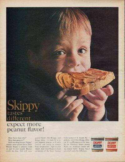"1967 Skippy Peanut Butter Ad ""Different"""