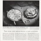 "1963 Longines-Wittnauer Watch Ad ""New year"""