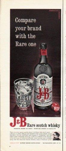 "1965 J & B Scotch Ad ""Compare your brand"""