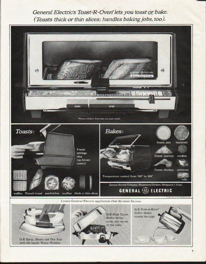 """1964 General Electric Ad """"Toast-R-Oven"""""""