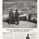 "1958 Liberty Mutual Insurance  Ad ""thank your lucky stars"""