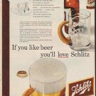 """1952 Schlitz Beer Ad """"If you like beer"""""""