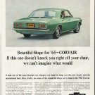 "1965 Chevrolet Corvair Ad ""off your chair"" ~ (model year 1965)"