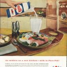 "1958 Pure-Pak Ad ""modern as a new kitchen"""