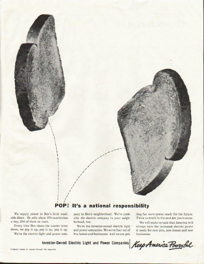 "1961 Electric Light and Power Companies Ad ""POP"""