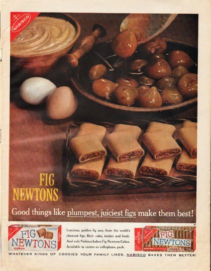 "1961 Fig Newtons Ad ""Good things"""