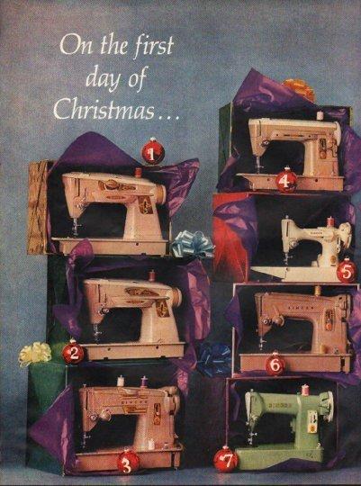 """1961 Singer Sewing Machine Ad """"My true love"""""""