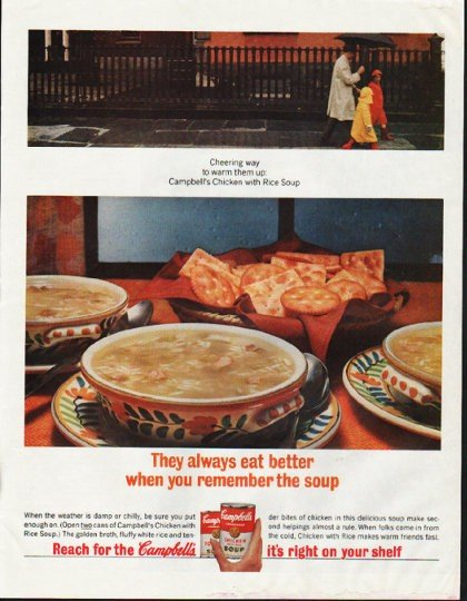 """1964 Campbell's Soup Ad """"always eat better"""""""