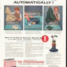 """1958 Frigidaire Washer Ad """"Dyes Clothes"""""""