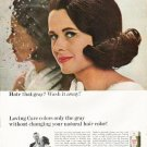 """1965 Loving Care Hair Color Ad """"Hate that gray"""""""