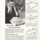 """1958 Iron Fireman Ad """"What kind of heating?"""""""