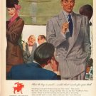 "1948 Hart Schaffner & Marx Ad ""How to buy a suit"""