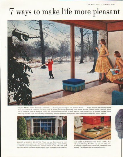 "1958 Pittsburgh Plate Glass Ad ""7 ways"""