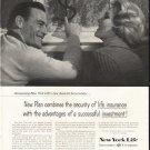 "1958 New York Life Insurance Company Ad ""Assured Accumulator"""
