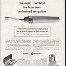 "1964 General Electric Toothbrush Ad ""professional recognition"""