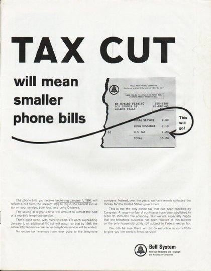 "1965 Bell System Ad ""Tax Cut"""