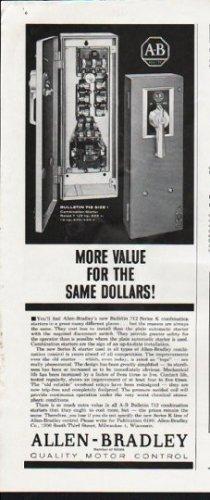 "1963 Allen-Bradley Ad ""More Value"""